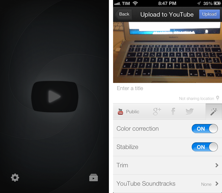 youtube capture for iphone by google youtube capture up to date with 1080p support 746x650